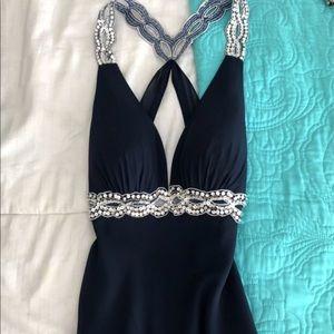 Navy Blue Faviana Dress